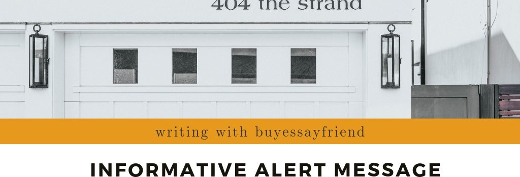 A banner dedicated to writing informative alert messages with BuyEssayFriend.